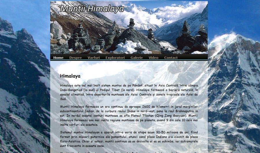 Atestat informatica Muntii Himalaya
