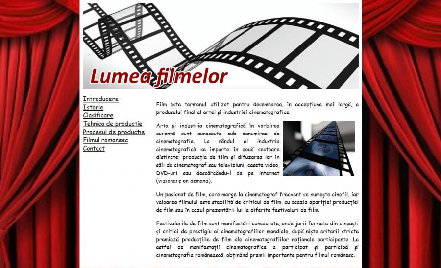 Atestat informatica Lumea filmelor