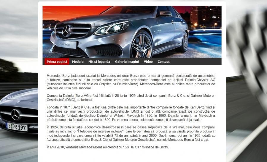 Atestat informatica Mercedes-Benz