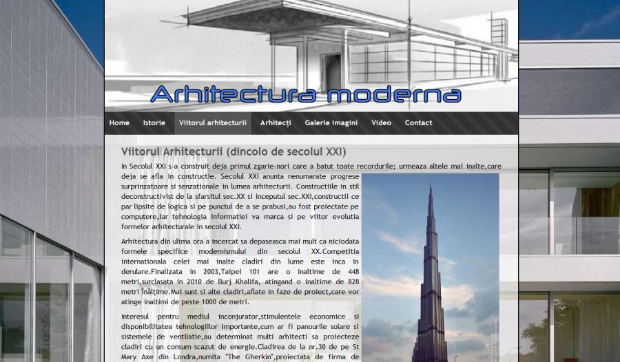 Atestat informatica Arhitectura moderna