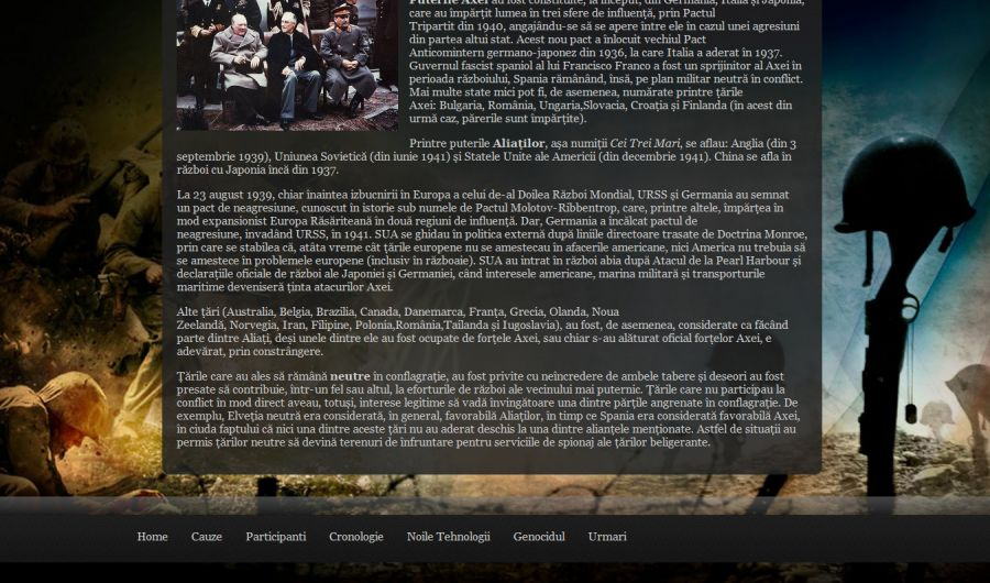 Atestat informatica Al Doilea Razboi Mondial