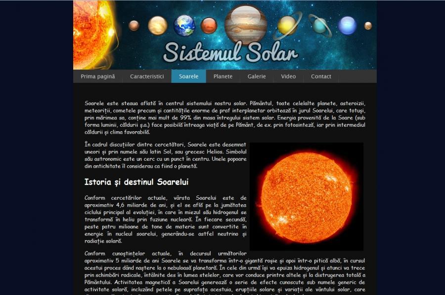 Atestat informatica Sistemul solar