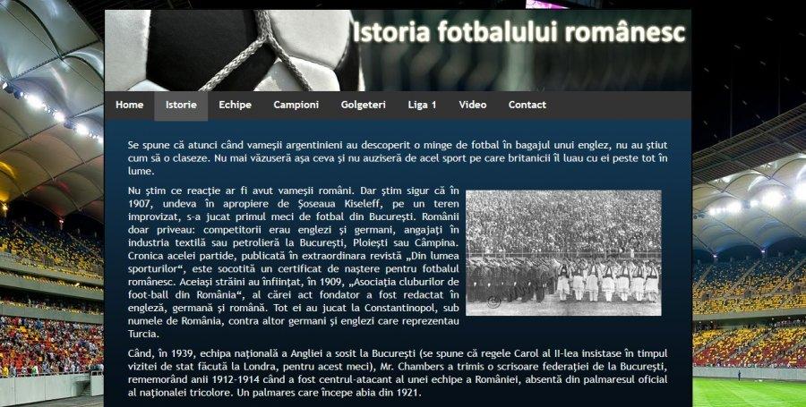 Atestat informatica Istoria fotbalului romanesc