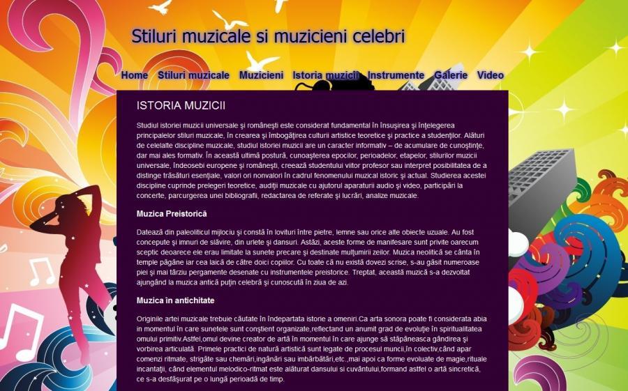 Atestat informatica Stiluri muzicale si muzicieni celebri