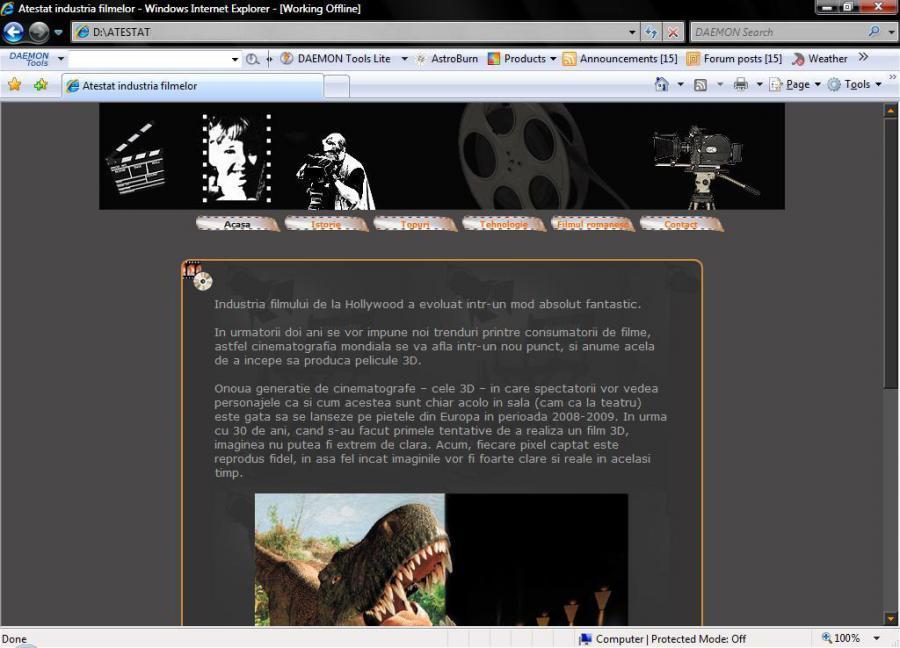 Atestat informatica Industria filmelor