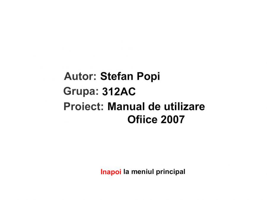 Atestat informatica Manual Microsoft Office