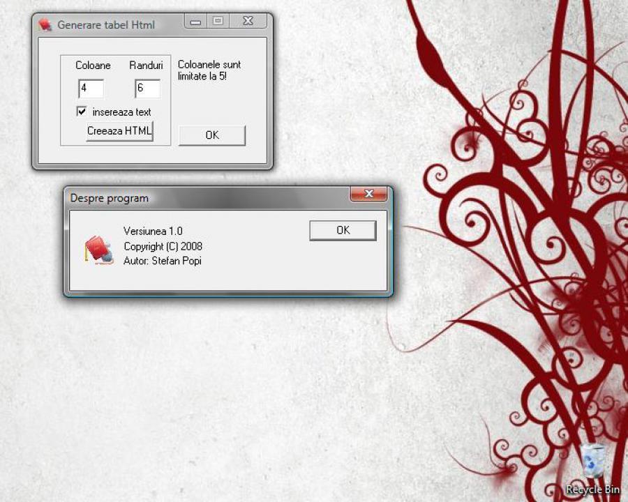 Atestat informatica Generare tabel in html