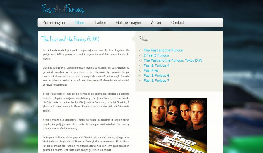 Atestat informatica Fast and Furious