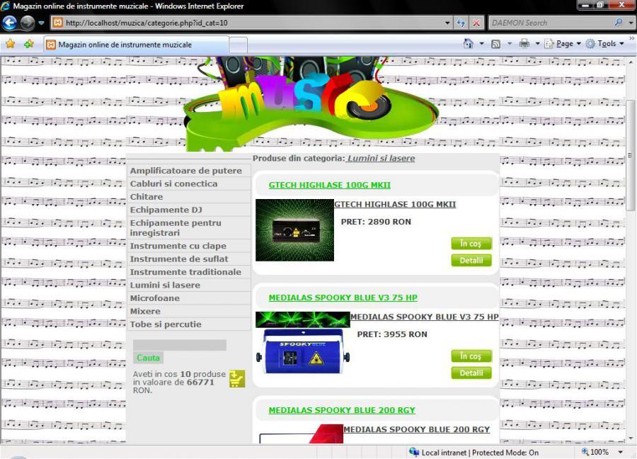 Atestat informatica Magazin online de instrumente muzicale