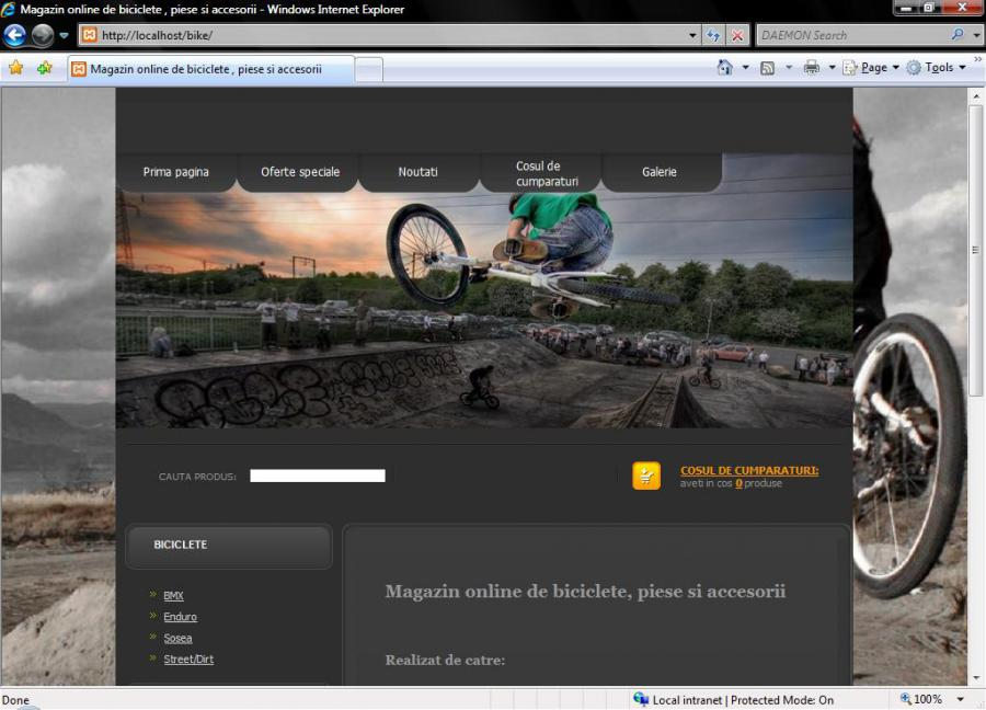 Atestat informatica Magazin online de biciclete,piese si accesorii