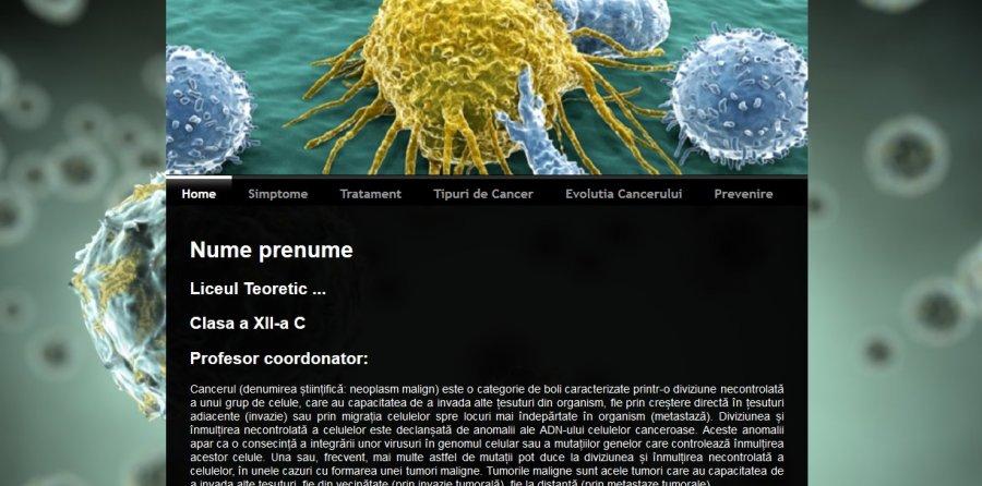 Atestat informatica Cancerul - Boala mileniului 3