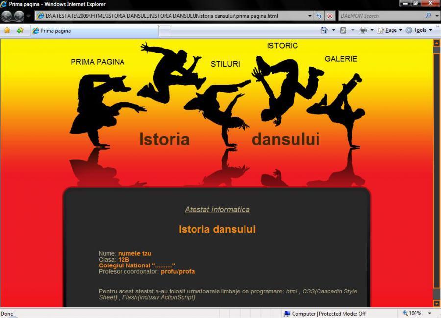 Atestat informatica Streetdance