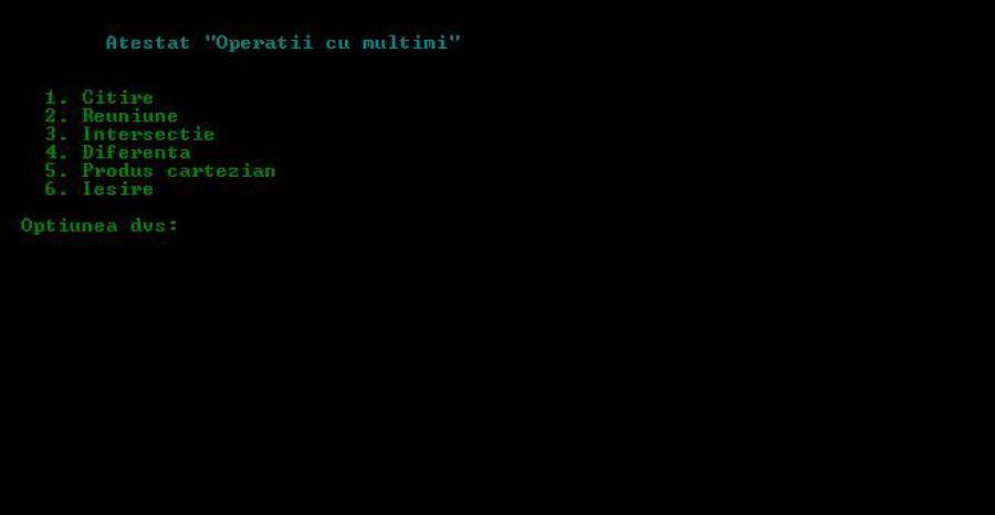 Atestat informatica Operatii cu multimi