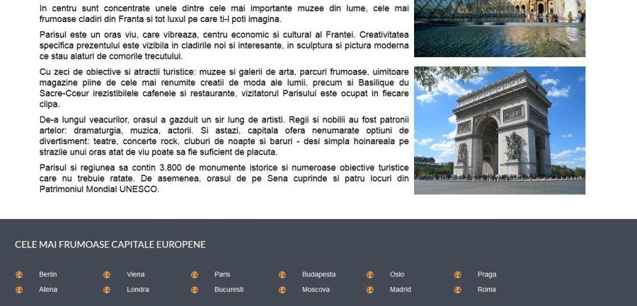 Atestat informatica Cele mai frumoase capitale europene