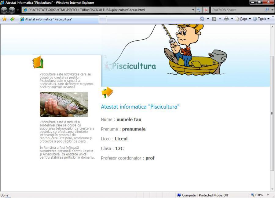 Atestat informatica Piscicultura