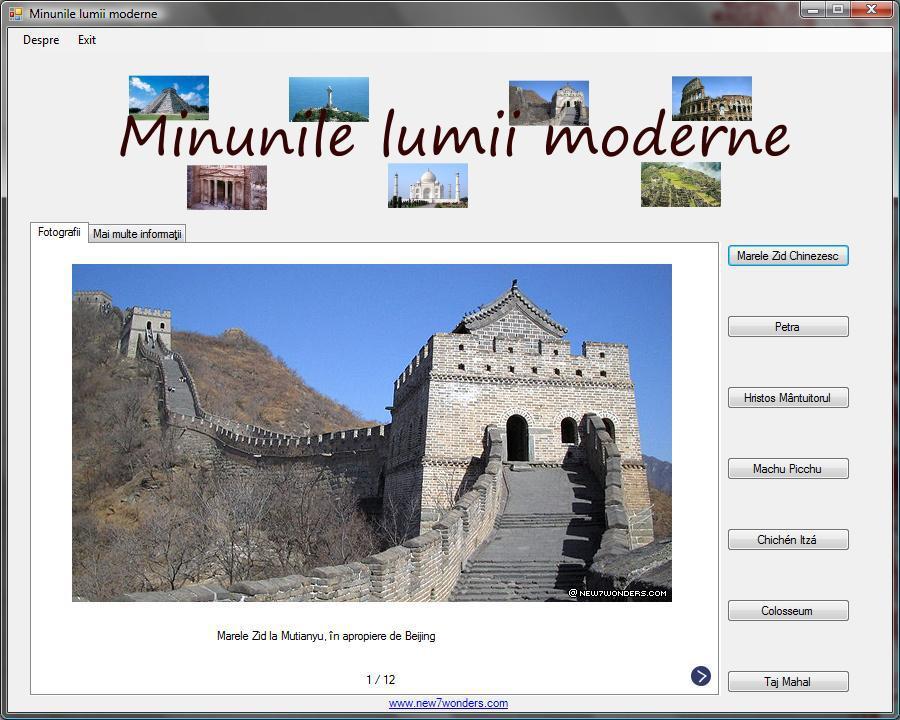 Atestat informatica Cele 7 minuni ale lumii moderne