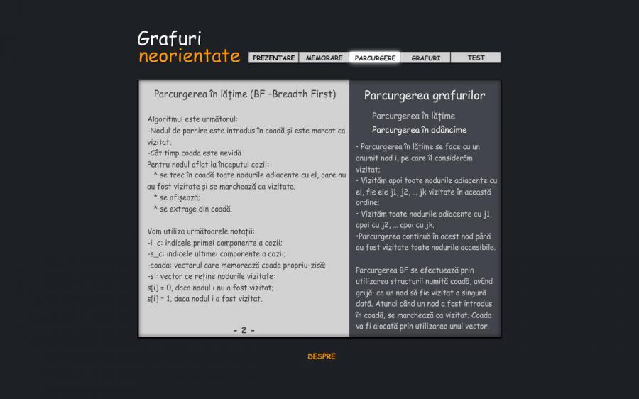 Atestat informatica Grafuri neorientate 2