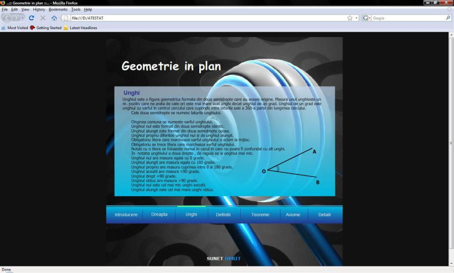 Atestat informatica Geometrie in plan