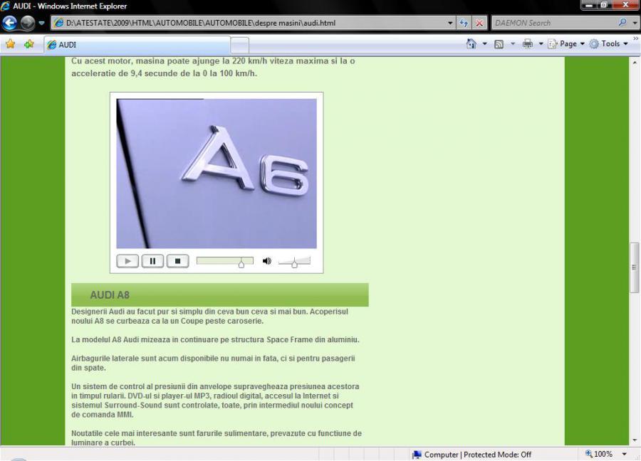 Atestat informatica Automobile