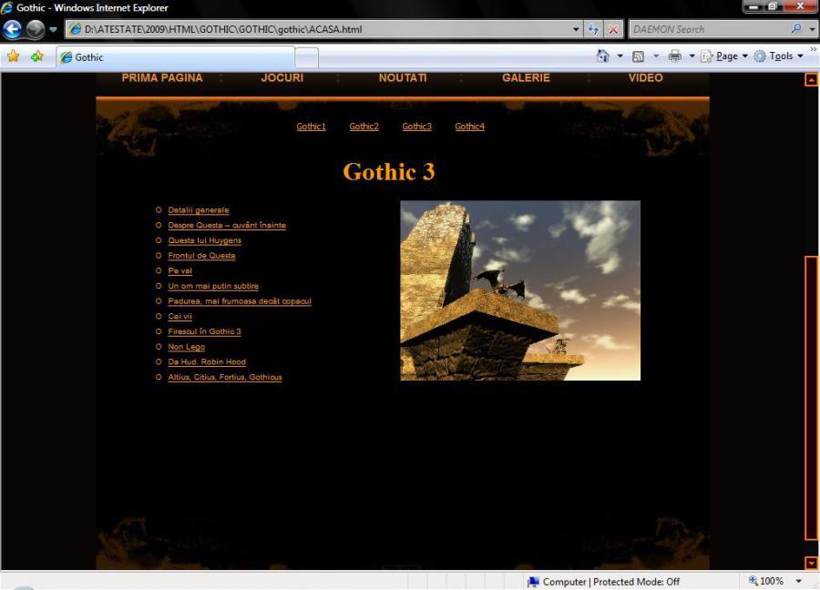Atestat informatica Jocul Gothic