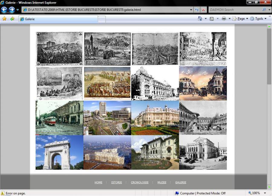 Atestat informatica Istorie Bucuresti