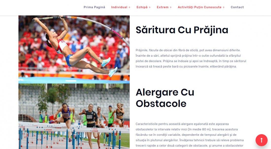 Atestat informatica Activități sportive
