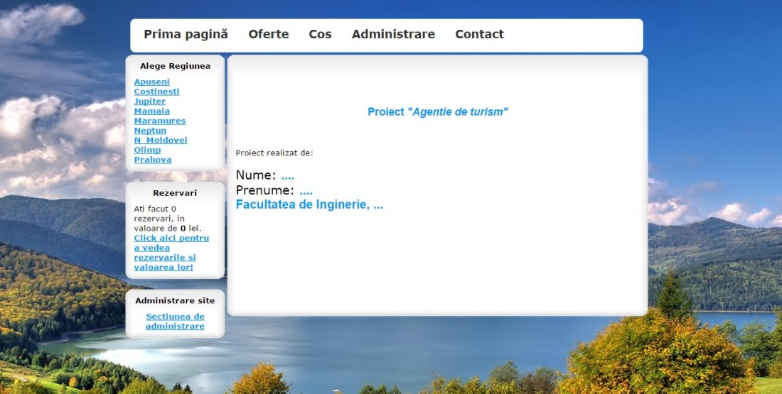 Atestat informatica Agentie de turism