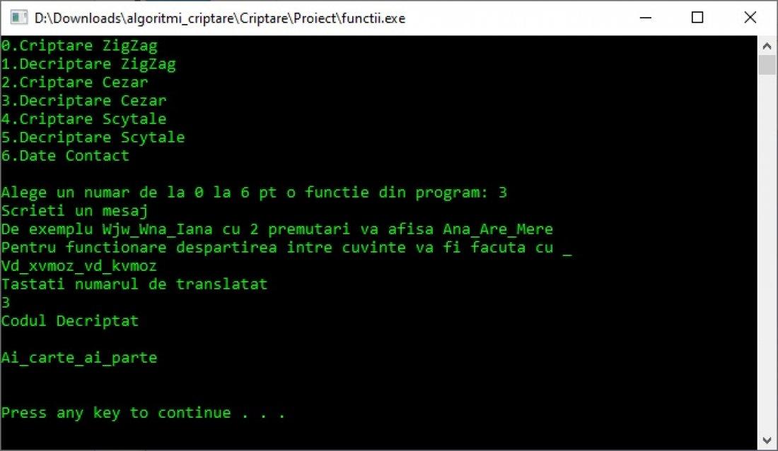 Atestat informatica Algoritmi de criptare