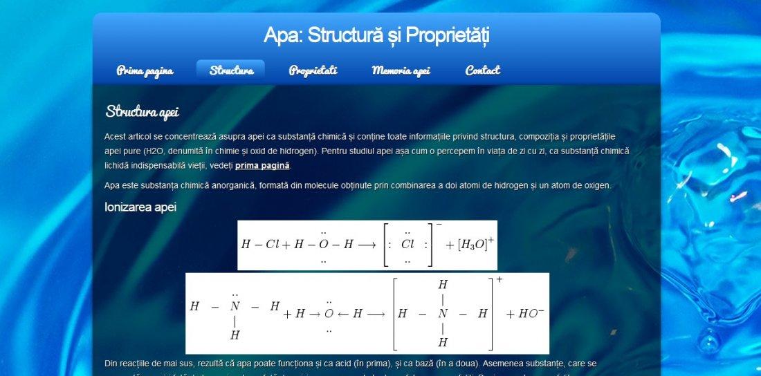 Atestat informatica Apa - structura si proprietati