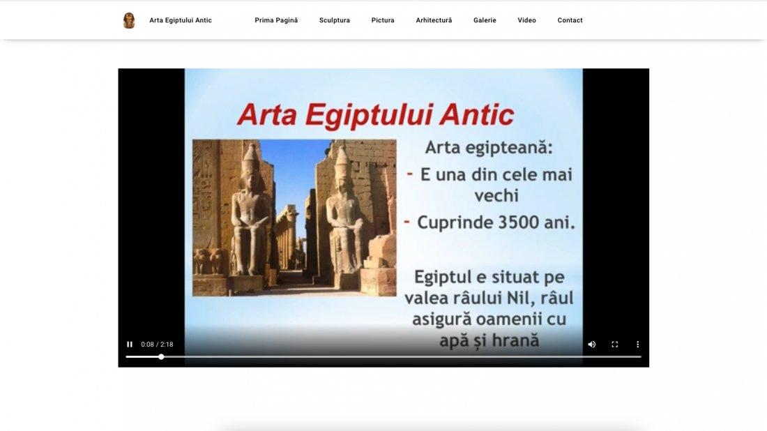Atestat informatica Arta Egiptului Antic