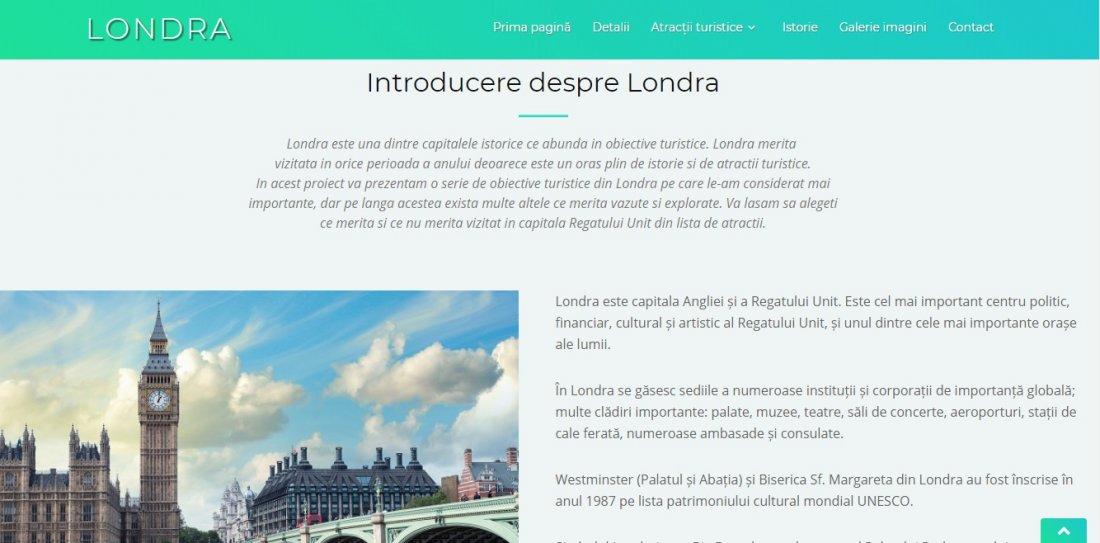 Atestat informatica Atractiile Londrei