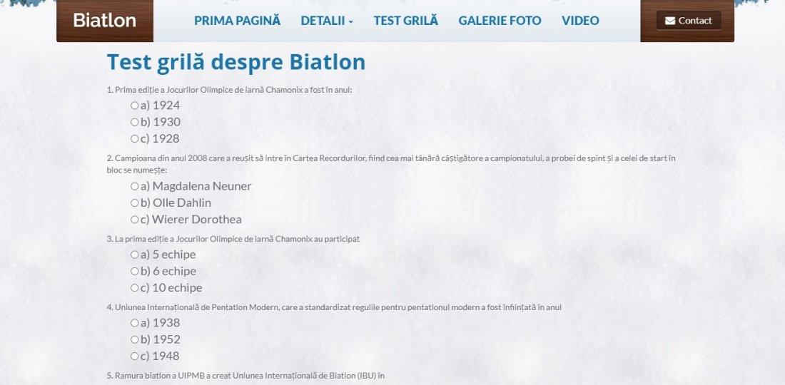 Atestat informatica Biatlon