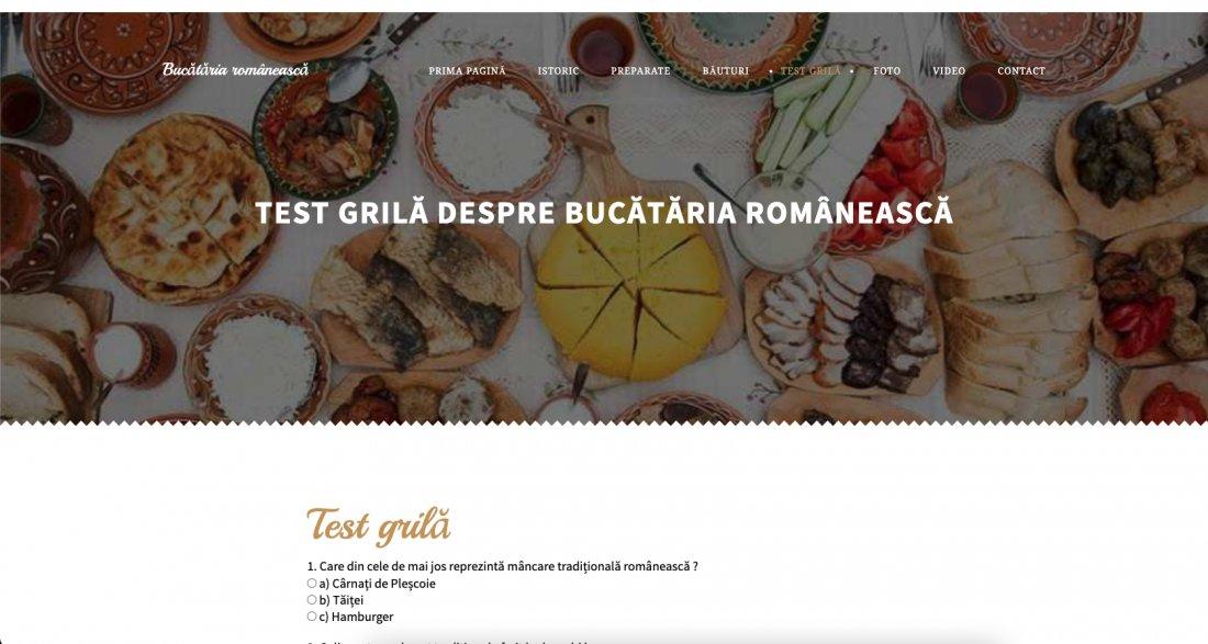 Atestat informatica Bucataria romaneasca