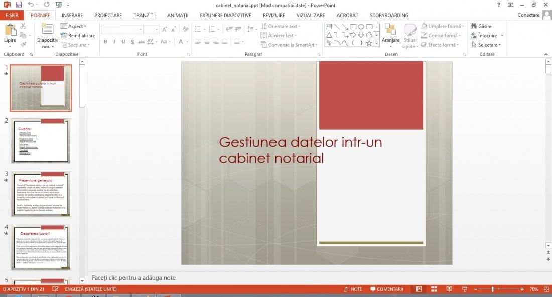 Atestat informatica Cabinet notarial