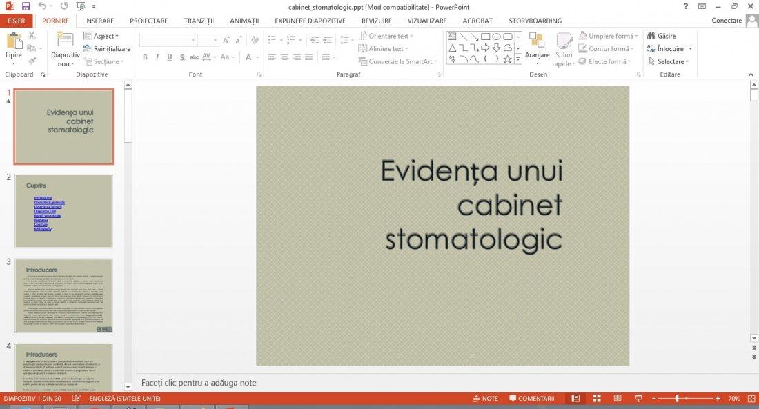 Atestat informatica Cabinet stomatologic v2