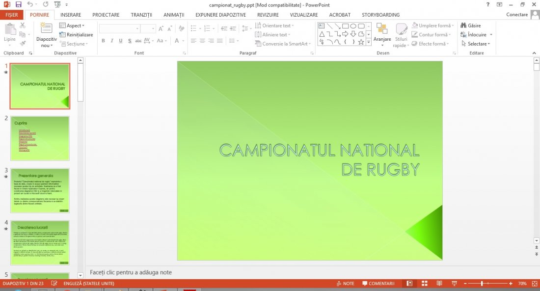 Atestat informatica Campionat rugby