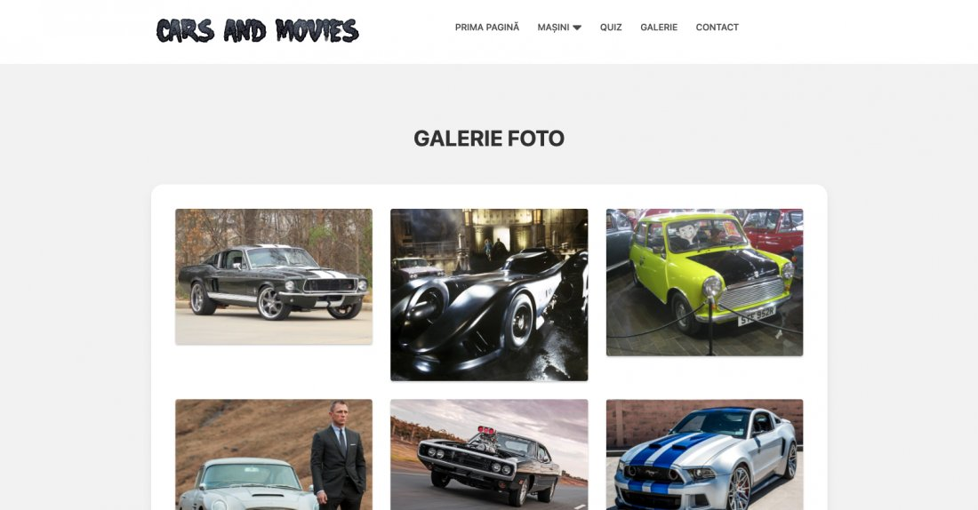 Atestat informatica Cars and movies