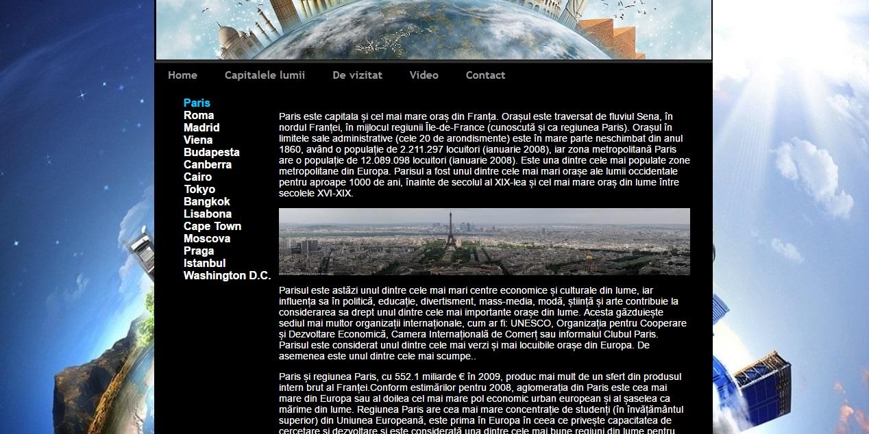 Atestat informatica Cele mai frumoase capitale