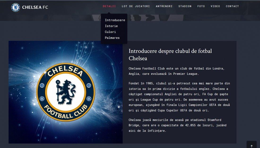 Atestat informatica Chelsea FC
