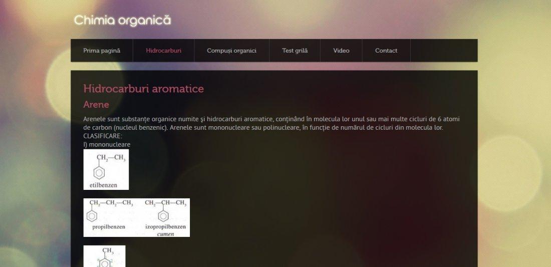 Atestat informatica Chimia Organica
