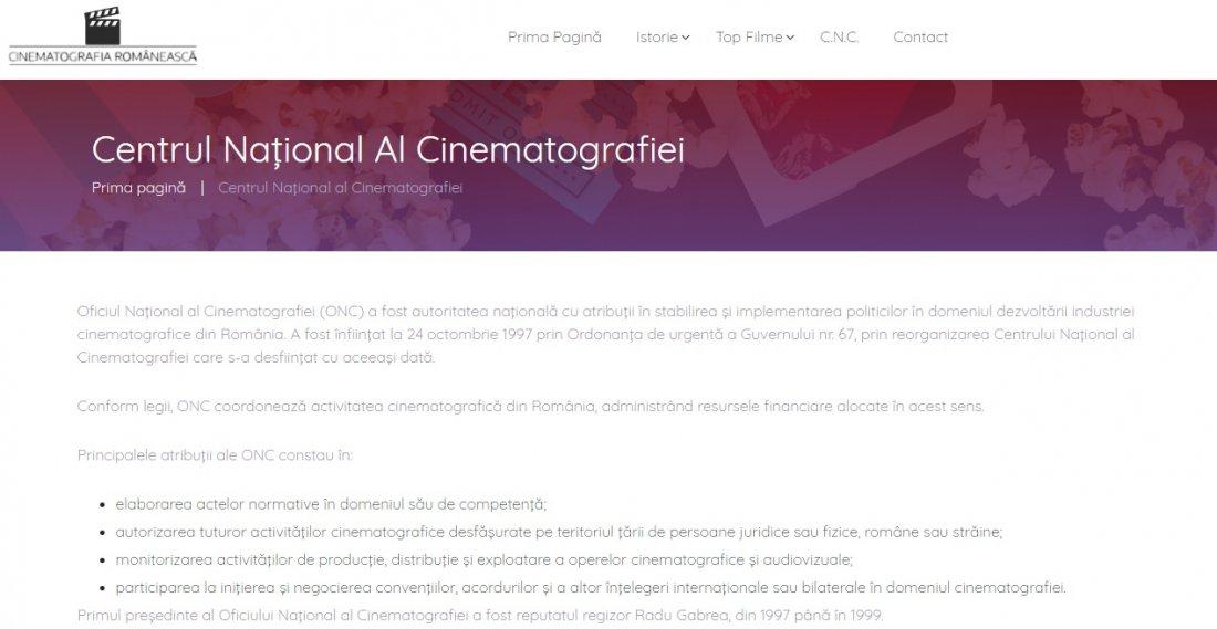 Atestat informatica Cinematografia romaneasca
