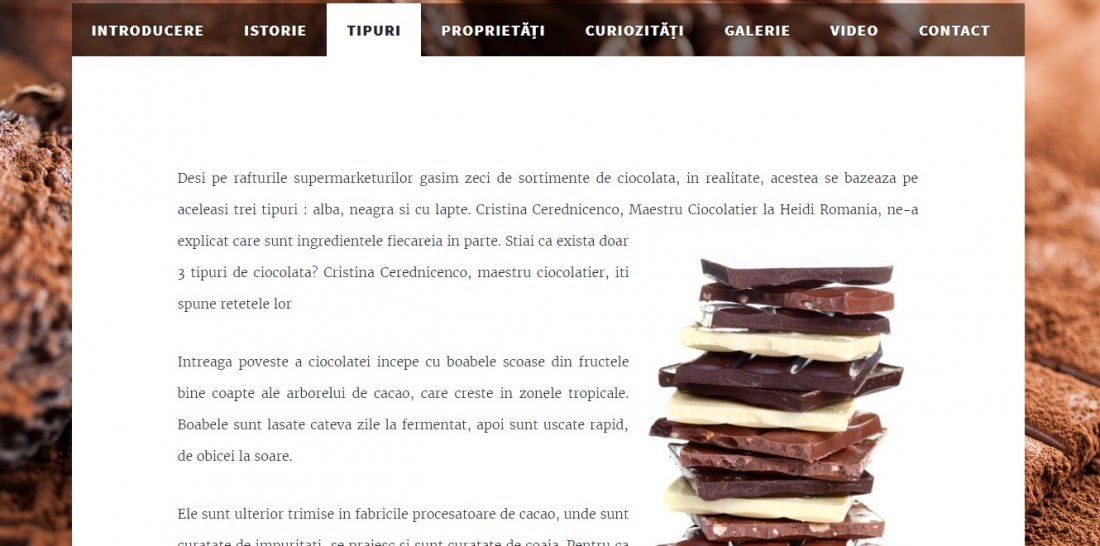 Atestat informatica Ciocolata