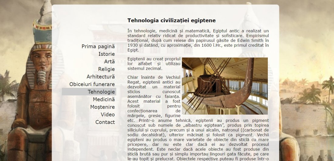 Atestat informatica Civilizatia egipteana