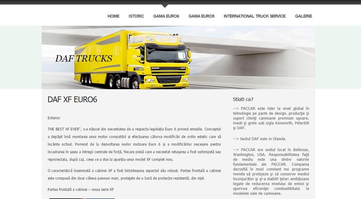 Atestat informatica DAF Trucks