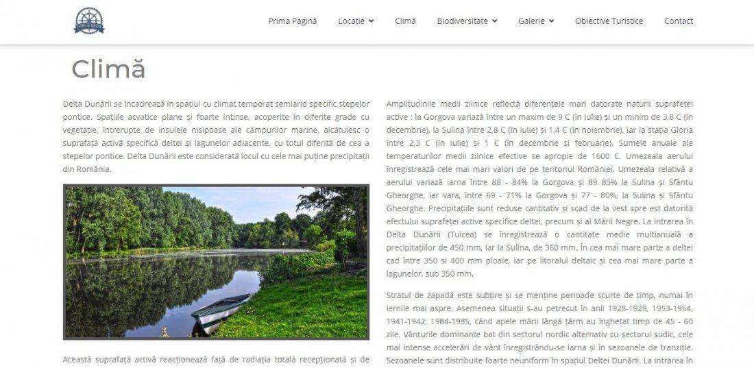 Atestat informatica Delta Dunarii