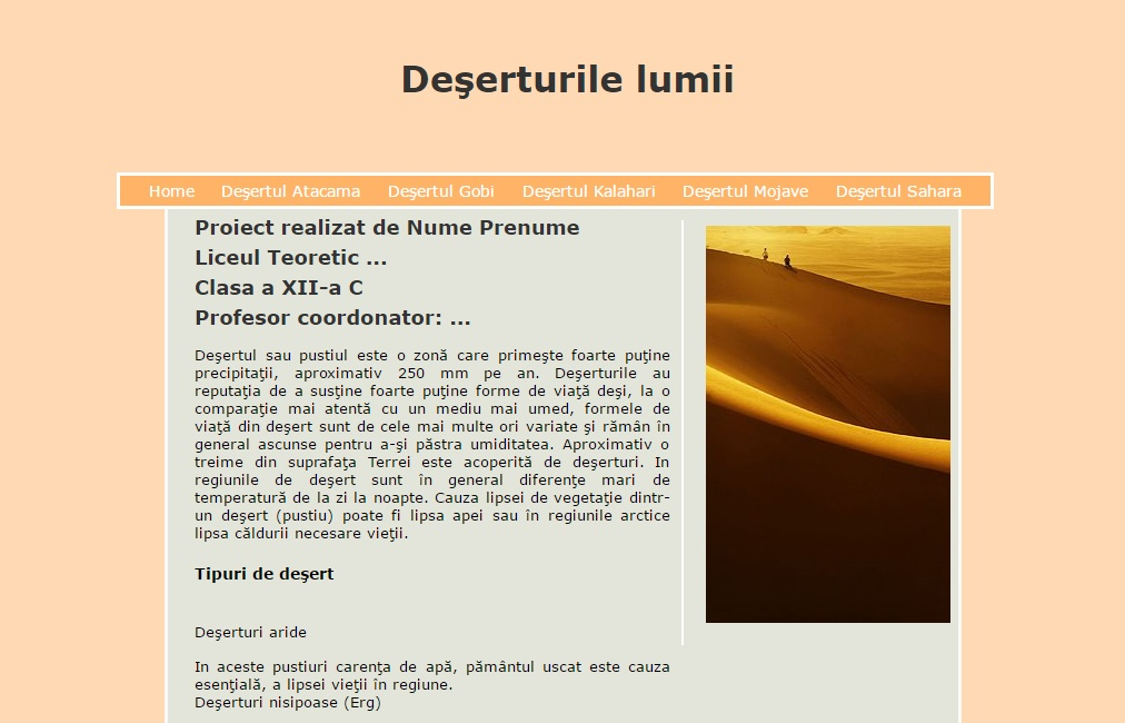 Atestat informatica Deserturile lumii