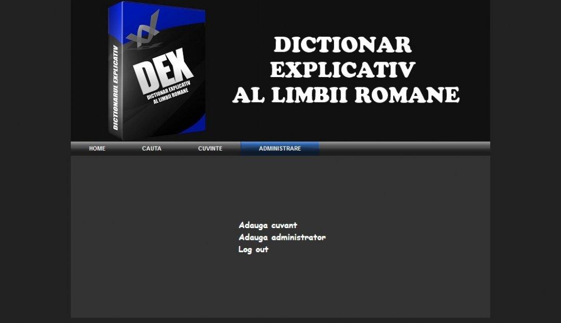 Atestat informatica Dictionar explicativ al limbii romane