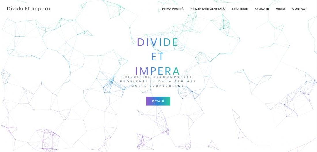 Atestat informatica Divide et Impera