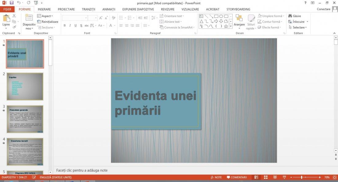 Atestat informatica Evidenta primarie