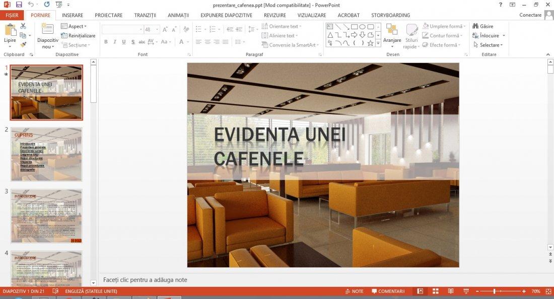 Atestat informatica Evidenta unei cafenele